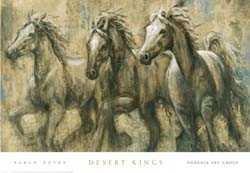 Desert Kings by Karen Dupre. Best Quality Art Poster Print. size: 39 inches width by 27 inches height.