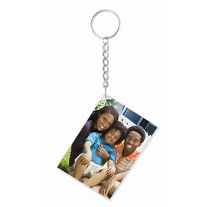 """Neil 2.5"""" x 3.5"""" Slip-in Photo Keychains with long chain ..."""