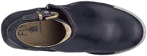 Anthracite Fly alla Nero Caviglia con Cinturino Black London 006 Scarpe Lepu306fly Donna r6XqxrvFw