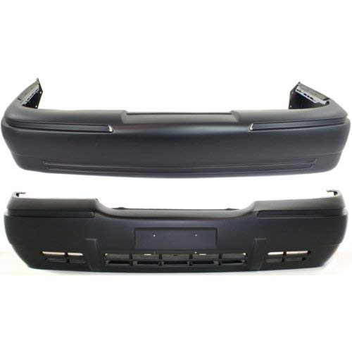 Bumper Cover Set of 2 Compatible with MERCURY GRAND MARQUIS 1998-2002 Front and Rear Primed