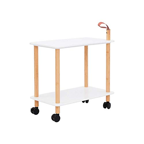 - KSDGQ Side Table Desk End Bedside Snack Coffee Bistro Living Room Small Coffee Table Sofa A Few Corners It Can Move Double Layer (Color : Leather Handle)