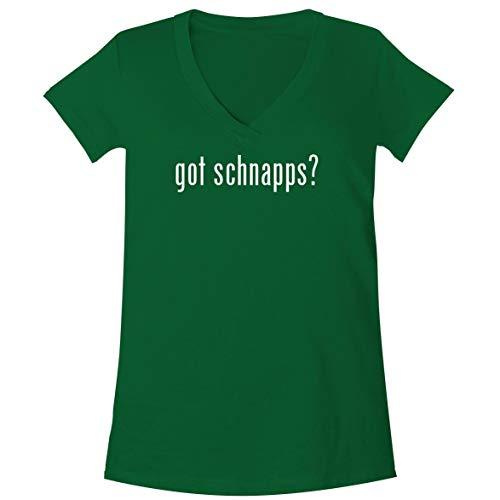 The Town Butler got Schnapps? - A Soft & Comfortable Women's V-Neck T-Shirt, Green, Medium