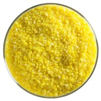 1 Lb Bullseye Medium Frit - 90 Coe - Sunflower Yellow Opal