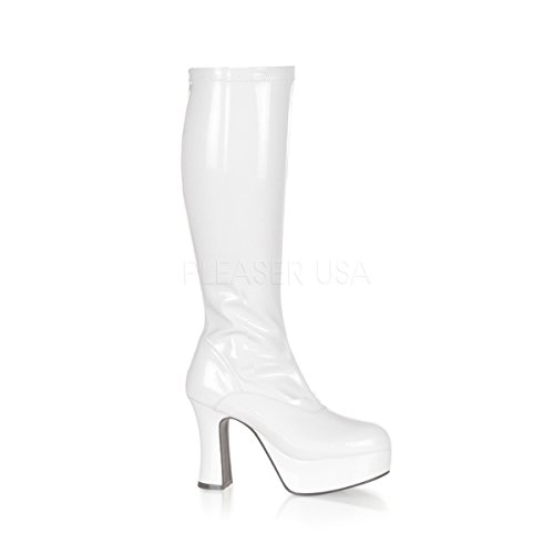 Funtasma by Pleaser Women's Exotica-2000 Boot,White Stretch Patent,8 M -