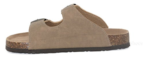 Taupe SandalslComfort Women's b32 Flat Toe MVE Strappy Open Summer Cork Shoes SlidelFlipFlop HpaFpnYqxv