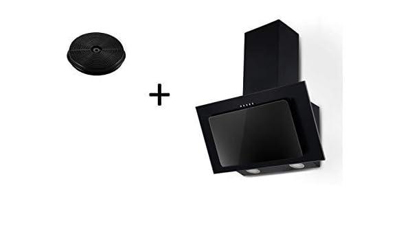 respekta CH33060SB+MIZ0060 - Juego de campana extractora (60 cm, sin cabezal, filtro de carbón activo), color negro: Amazon.es: Grandes electrodomésticos