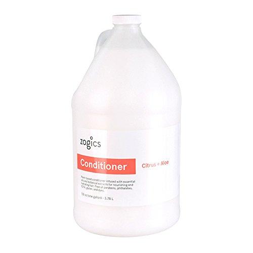 Zogics Conditioner, Citrus + Aloe Scented Conditioner (1 Gallon Refill)