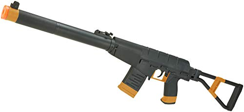 Evike S&T Full Metal VSS AS-VAL Airsoft AEG Rifle with Folding Stock - Black -