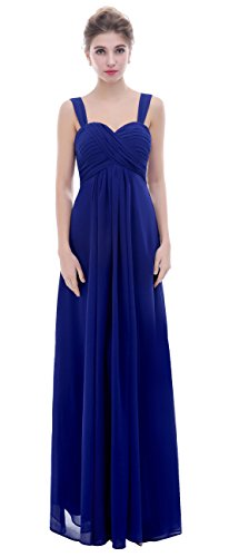 Ruched esvor Sweetheart Dress Royal Prom Formal Blue Straps Bridesmaid Gowns Long Spaghetti TfwfrE