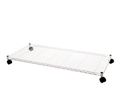 DormCo Suprima Rolling Underbed Storage Shelf - White by DormCo