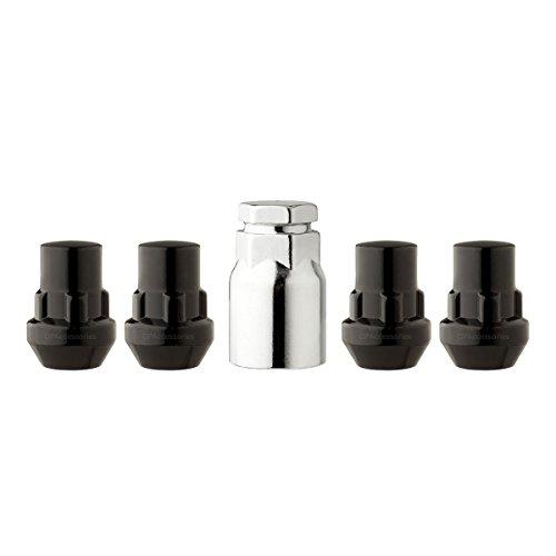 DPAccessories LCB3L5CP-BK05LK4 Black Wheel Locks 12x1.25 Closed End Bulge Acorn 19mm & 13/16