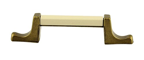 Antique English with Almond Ceramic Drawer Pull Handle Centers: 3