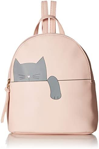 T-Shirt Jeans Hanging Cat Backpack in Blush
