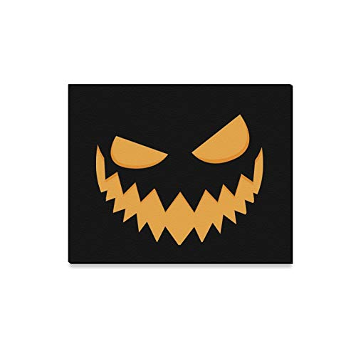 Jnseff Wall Art Painting Pumpkin Face On Pumpkin Scary Prints On Canvas The Picture Landscape Pictures Oil for Home Modern Decoration Print Decor for Living Room
