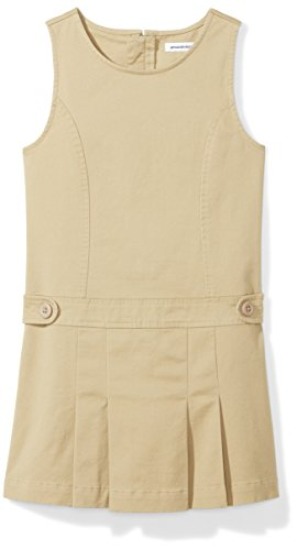 Amazon Essentials Big Girls' Uniform Jumper, Khaki, XL (12) ()
