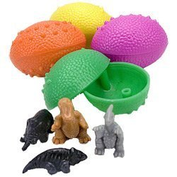 WD Dinosaurs Eggs with Mini Toy Dinosaur Figures Inside - 36 Per Order - Great for Birthday Party Favors