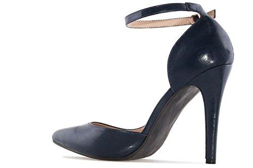 Andres Machado - Zapatos de vestir para mujer azul azul