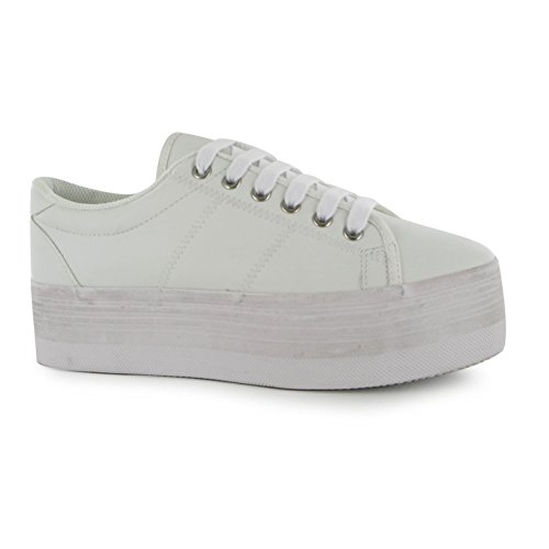 Jeffrey Campbell Play Plateforme Chaussures Femme Blanc Fashion formateurs Sneakers
