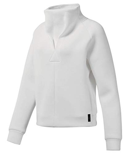À Col Sweatshirt Supply Training Reebok Blanc Femme Roulé a5BgUq