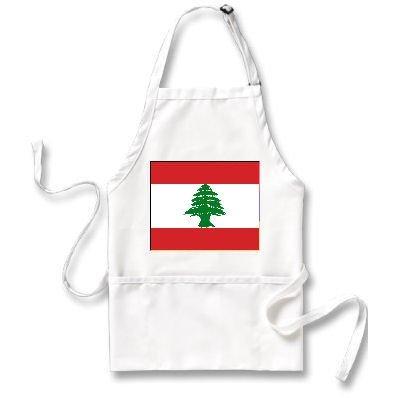 Lebanon Flagエプロン   B004PVXE4O