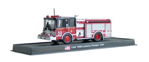 Luverne Pumper Fire Truck Diecast 1:64 Model (Amercom GB-17) (Fire Truck Model compare prices)