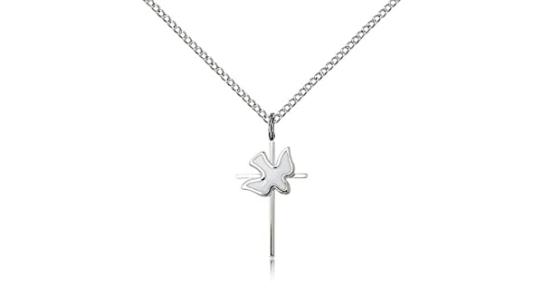 Amazon.com: Bliss Silver Cross/Holy Spirit Pendant 3/4X3/8 ...