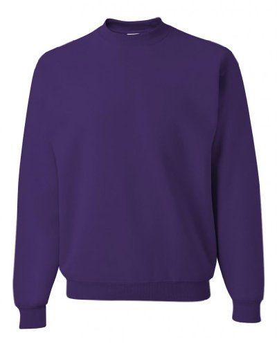 Jerzees Z NuBlend 50/50 Cotton / Poly Crew Sweatshirt - Deep Purple, Large