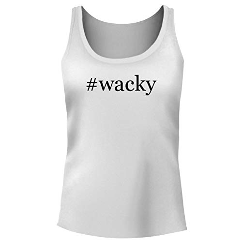 One Legging it Around #Wacky - Women's Hashtag Funny Soft Tank Top, White, Medium