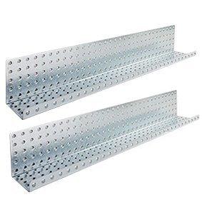 Alligator Board ALGSHELF3x32GALV 3 in. L x 32 in. W Metal Pegboard Shelves - Pack of 2