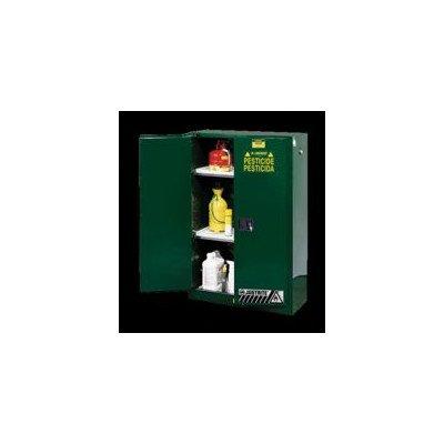 Justrite 891204 Sure-Grip EX Steel 1 Door Manual Compac Pesticides Safety Storage Cabinet, 12 Gallon Capacity, 23-1/4