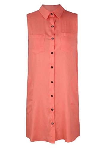 Collar Mini Red Tank Breasted Shirt Top line Coolred Dress Women A Single Square Casual taOfwz