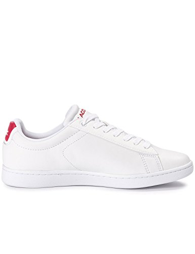 Lacoste Men's Carnaby Leather Men's White Sneakers Synthetic Leather White