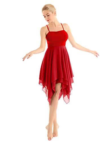 inhzoy Women's Elegant Modern Lyrical Dance Costume