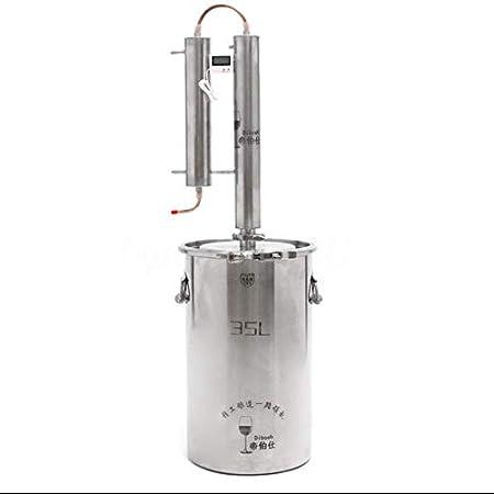 Destilador de alcohol y etanol para hacer vino, caldera de acero inoxidable 316