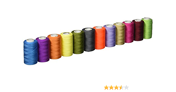 HIGH QUALITY 12PCX45m HOME TRAVEL SEWING THREAD 100/% PURE POLYESTER MULTICOLORED