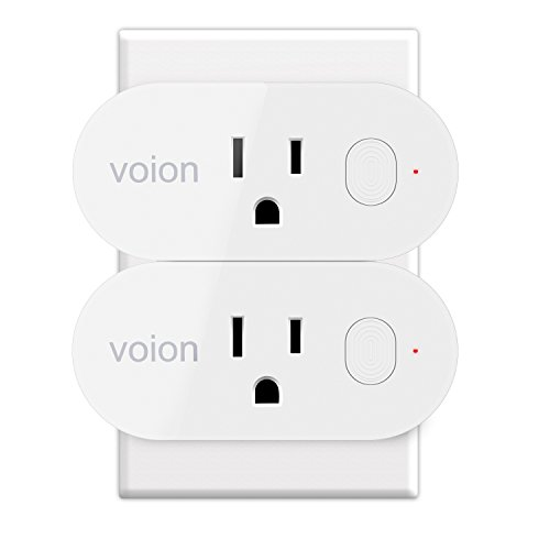 Alexa Smart Wifi Plug Mini - Voion Wifi Socket Outlet with Energy Monitoring, Works with Alexa and Google Assistant, Control Your Lights, Appliances From Your Phone - 2 Pack