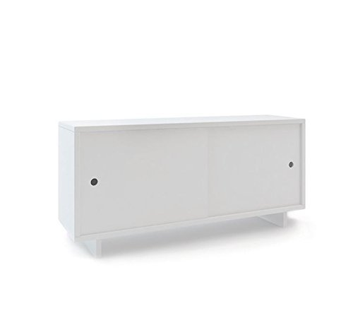 (Oeuf Perch Twin Size Console, White)