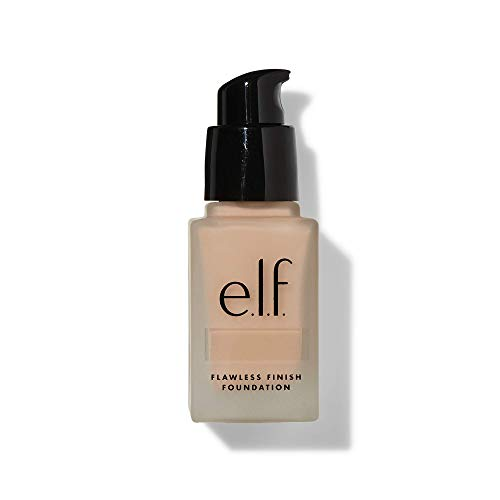 e.l.f, Flawless Finish Foundation, Lightweight, Oil-free formula, Full Coverage, Blends Naturally, Restores Uneven Skin Textures and Tones, Alabaster, Semi-Matte, SPF 15, All-Day Wear, 0.68 Fl Oz
