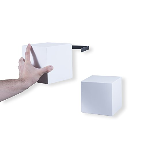 brightmaison Decorative Square Wall Cubes Floating Block Shelves Set of 6 White by brightmaison (Image #4)