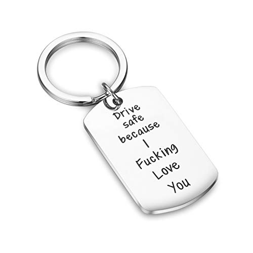 CJ&M Drive Safe Keychain New Driver Gift, Funny Gift for Driver, Stocking Stuffer for Teen, Sweet 16 Gift, Driving Keychain, Gift for Son, Gift for Daughter, Dad Gift, Men Gift