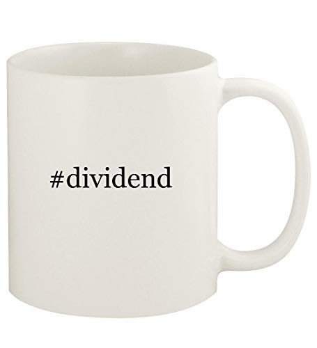 #dividend - 11oz Hashtag Ceramic White Coffee Mug Cup, White