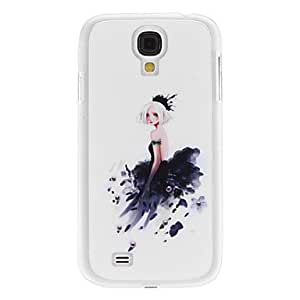 GHK - Girl in Feathered Dress Pattern Hard Case with Rhinestone for Samsung Galaxy S4 I9500