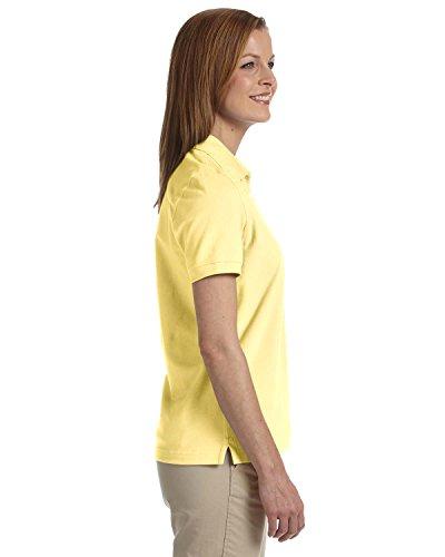 Ashworth 1146C da donna in cotone pettinato Piquã polo-short Sleeve shirts-xx-large-light giallo