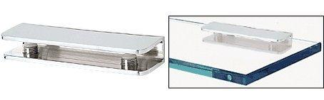 CRL Chrome Finish Solid Brass Rectangular Glass Shelf Clamp