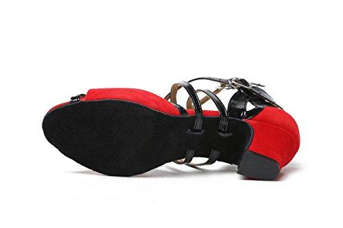 Daim De À Minitoo En Talons Red Femme Tango Pour Lanières Qj6132 nbsp;chaussures Et Danse Heel 5cm Bout Ouvert Salsa qCqSEHwxP