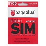 Page Plus Cellular 4g LTE Nano Sim Card Starter Kit for Verizon Iphone 5c HTC One M8 Iphone 6+