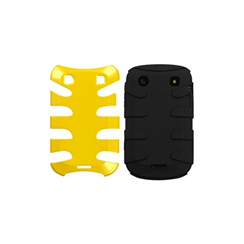 MyBat BB9930HPCSK053NP Fishbone Protective Case for BlackBerry Bold 9930-1 Pack - Retail Packaging - Pearl Yellow/Black ()