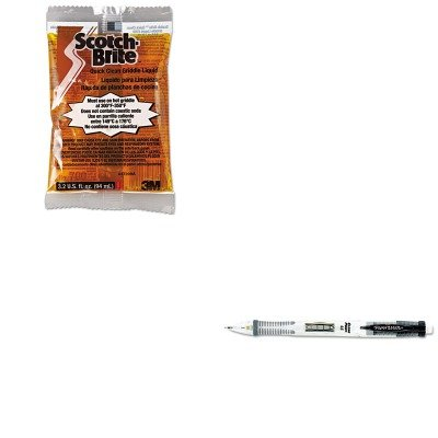 kitmmm29603pap56037 – Valueキット – Paper MateクリアポイントMechanical Pencil (pap56037 ) とscotch-briteクイッククリーンGriddle液体(mmm29603 ) B00MOO9FCO