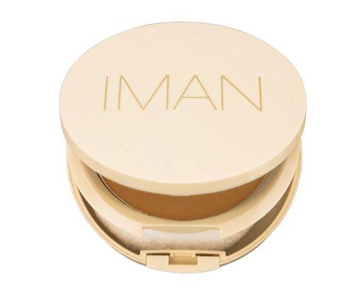 IMAN Cosmetics Perfect Response Oil-Blotting Pressed Powder, Medium Skin, Medium by Iman Cosmetics