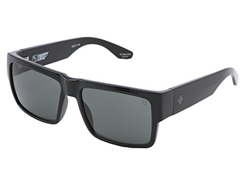 Spy Optic Cyrus Sunglasses Gloss Black with Happy Grey Green Lens ()